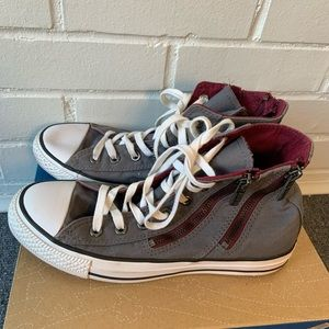 Converse All Star Zippered High Top Sneakers